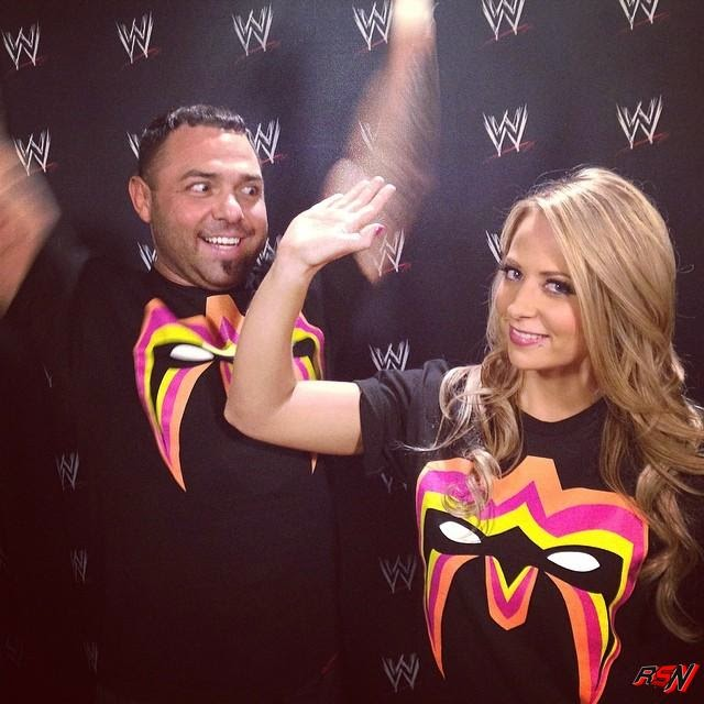 Santino and Emma Showing Off Their Warrior T-Shirts.