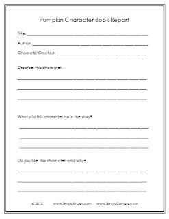 easy book reports for 7th graders