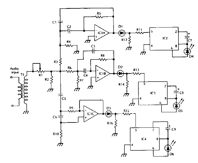 Electronik & Computer Tips.: LM3909 IC Color organ electronic ...