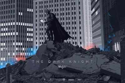 The Dark Knight Variant Screen Print by Laurent Durieux x Mondo