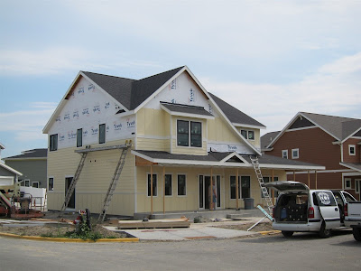 The Crossings Bed & Breakfast in Billings, Montana under construction