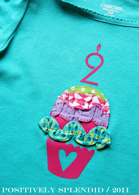 sewing for kids: ruffled birthday cupcake tee