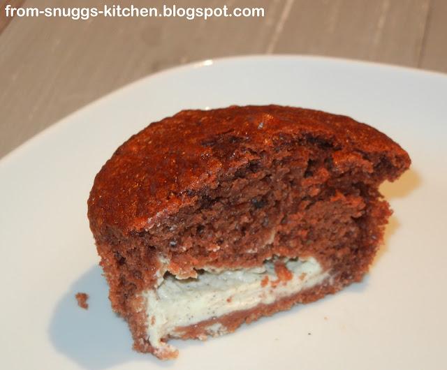 Schokomuffin mit Frischkäsefüllung