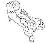 #2 Donkey Kong Coloring Page