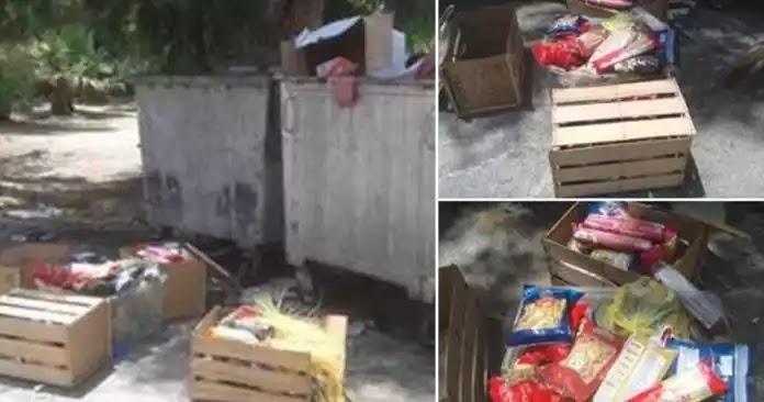 Μετανάστες στην Καβάλα πετάνε στα σκουπίδια τρόφιμα που τους δίνει το ελληνικό(?) κράτος