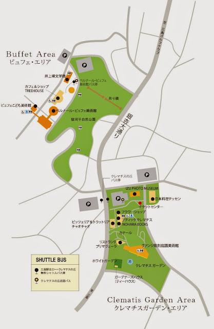 クレマチスの丘 地図 マップ