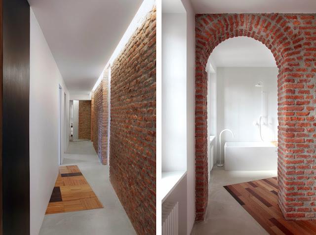 Tres apartamentos salpicados de madera espacios en madera - Alfombras de madera ...