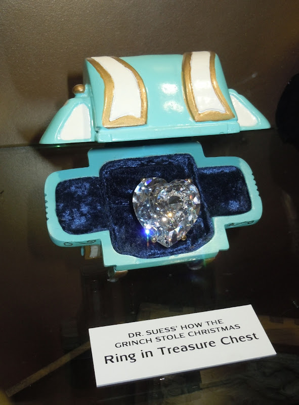 The Grinch treasure chest ring prop