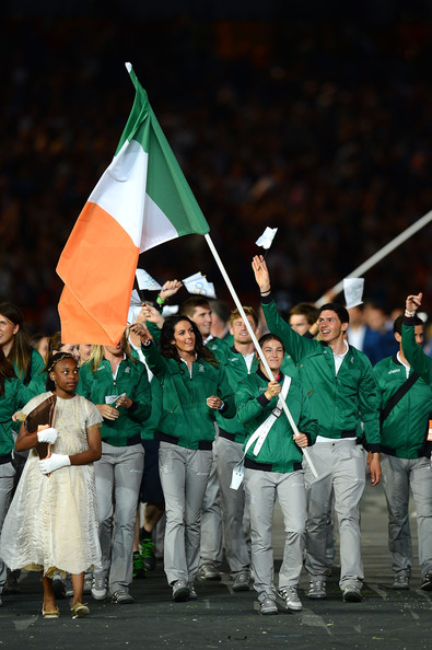 The Irish Olympic team led by Katie Taylor