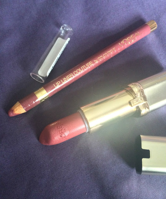 l'oreal lip liner and lipstick