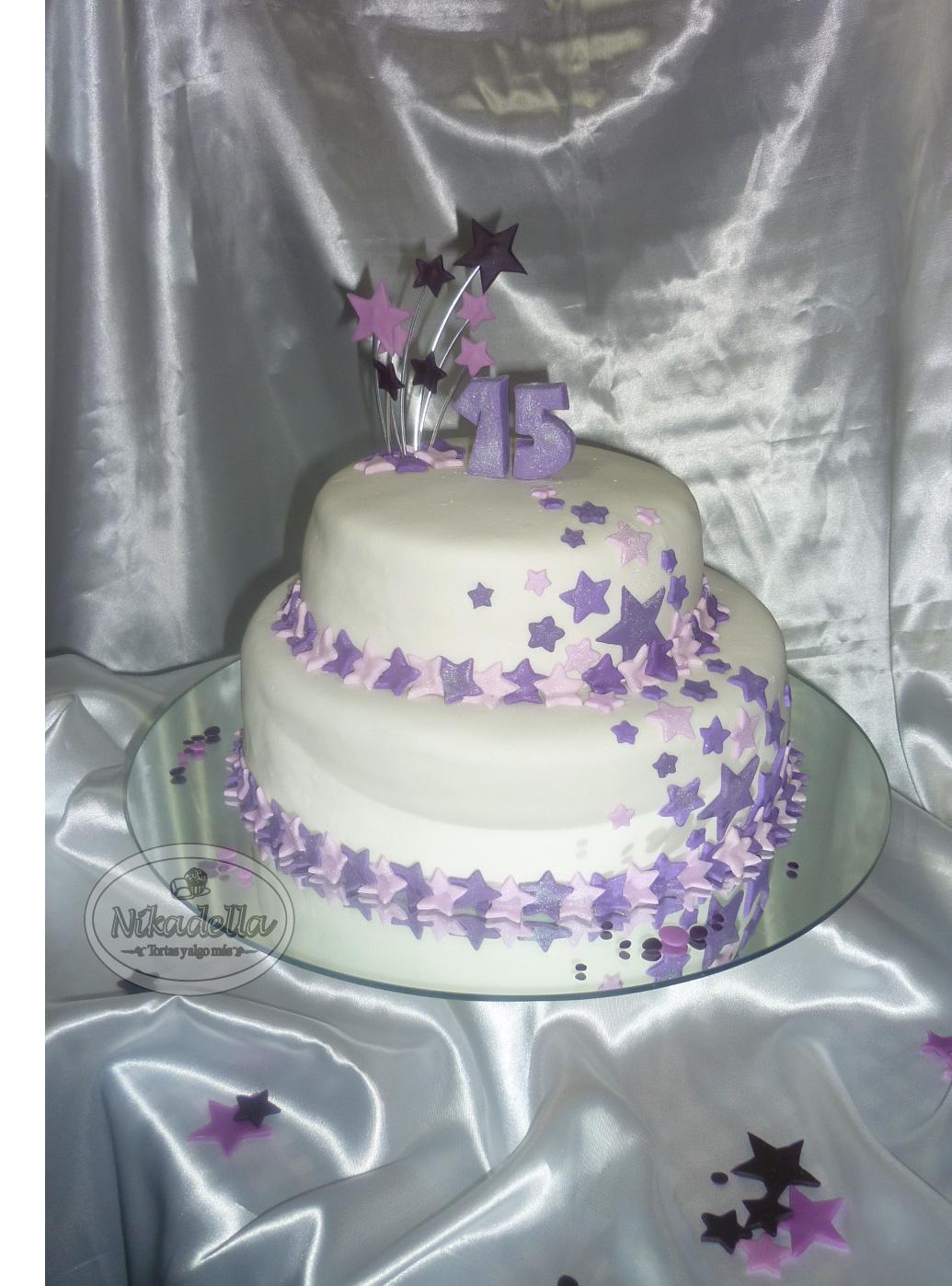 Nikadella: Torta 15 Años Estrellas