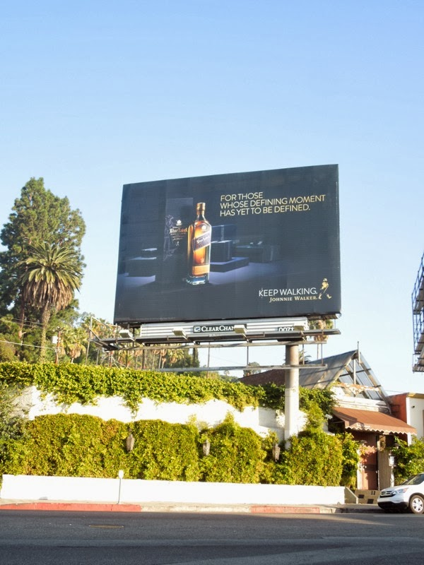 Johnnie Walker Whisky defining moment billboard