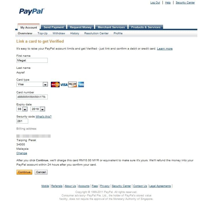 Asyraf Verified Paypal Guna Maybank Visa Debit