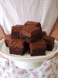 Brownies met glazuur