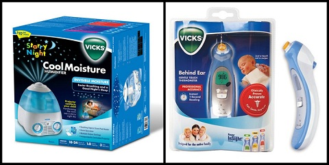 Vicks Humidifier and Thermometer