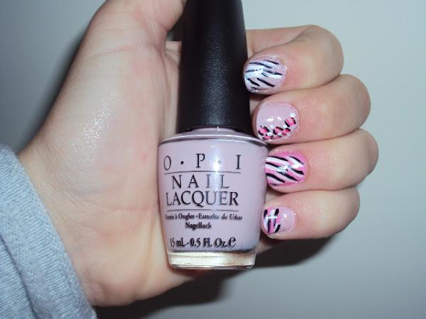Roze nail-art.