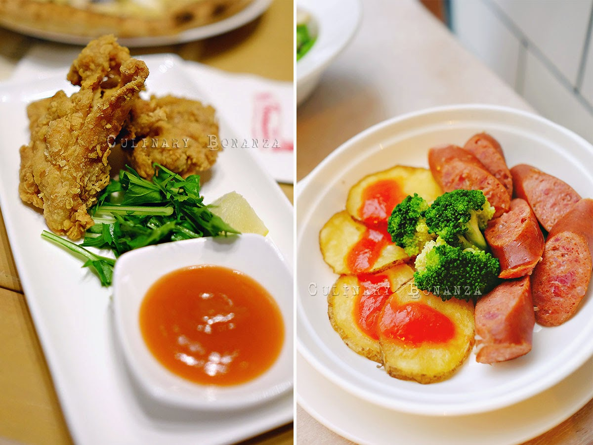 Left: Chicken Karaage IDR 20,000 Right: Spicy Beef Krakauer IDR 45,000