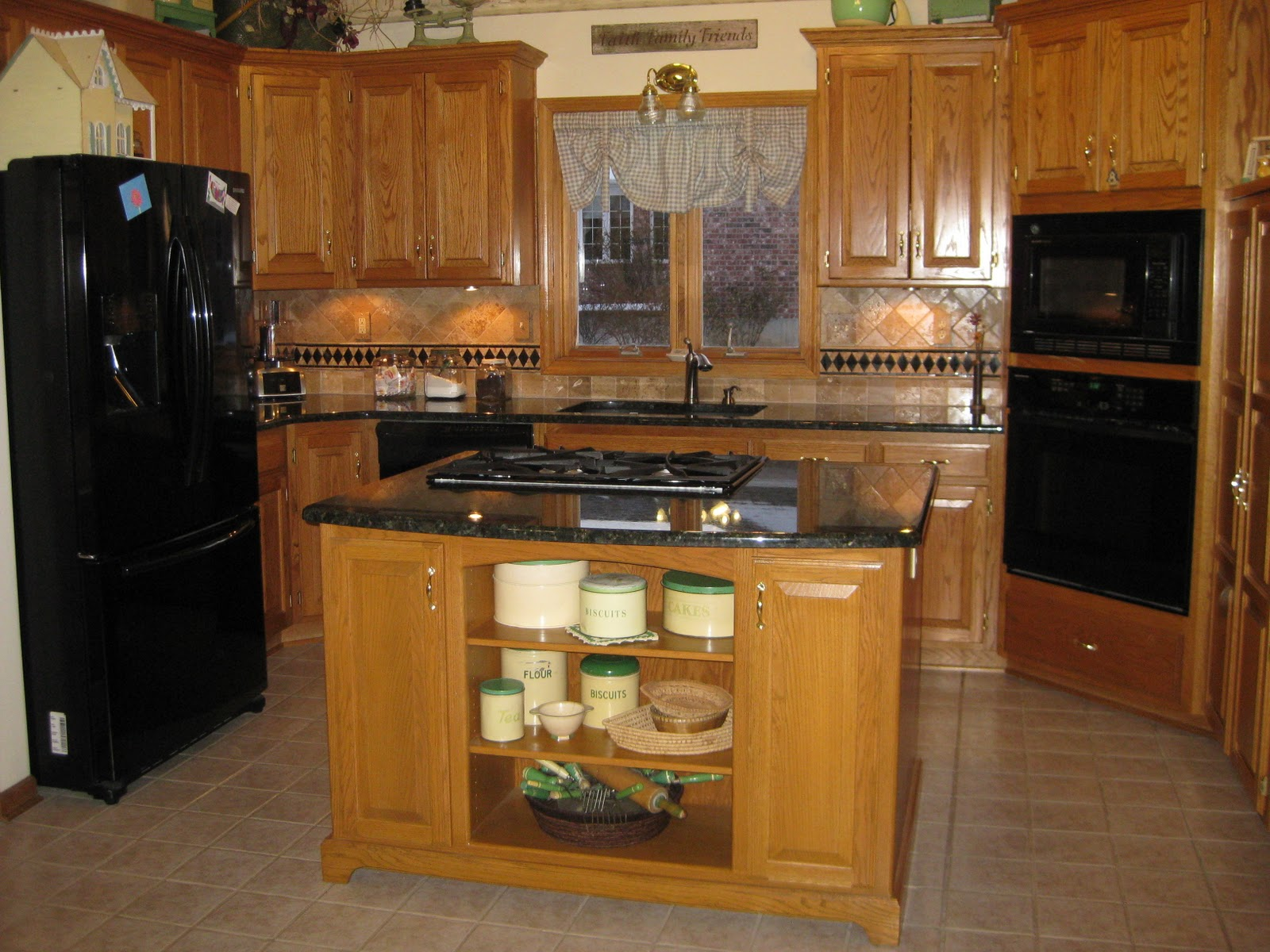 Stonewood wood work before after kitchen remodel - Kitchen remodel before after ...