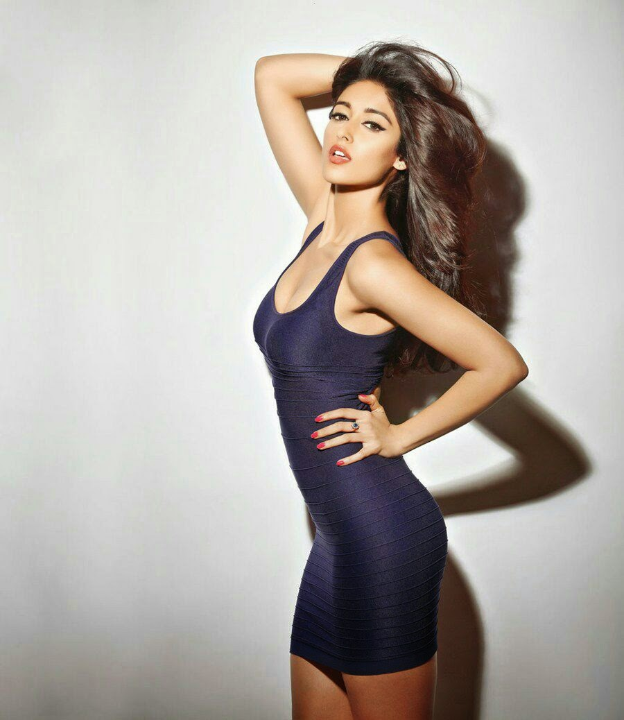 Ileana-DCruz-in-sexy-tight-fitted-blue-mini-dress