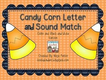 http://www.teacherspayteachers.com/Product/Candy-Corn-Letter-and-Sound-Match-1461218