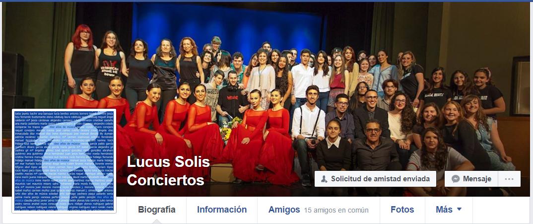 Los conciertos en Facebook