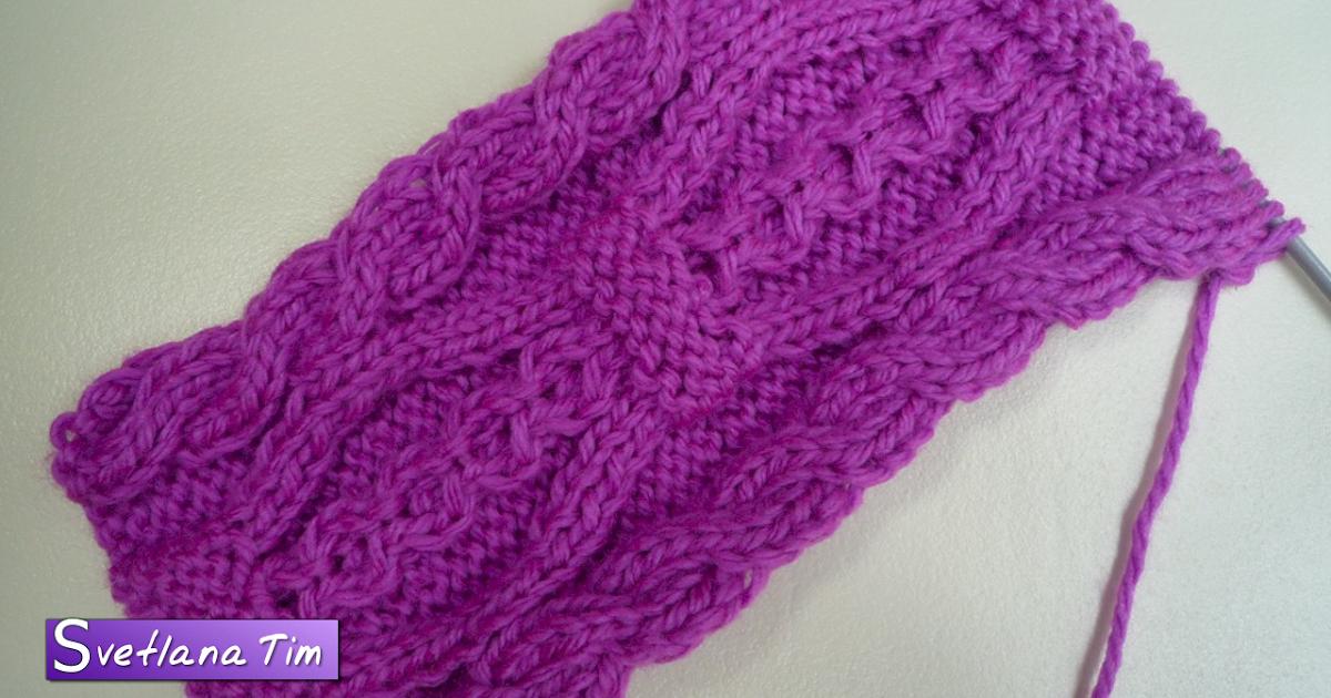 Вязание на двух спицах шарф