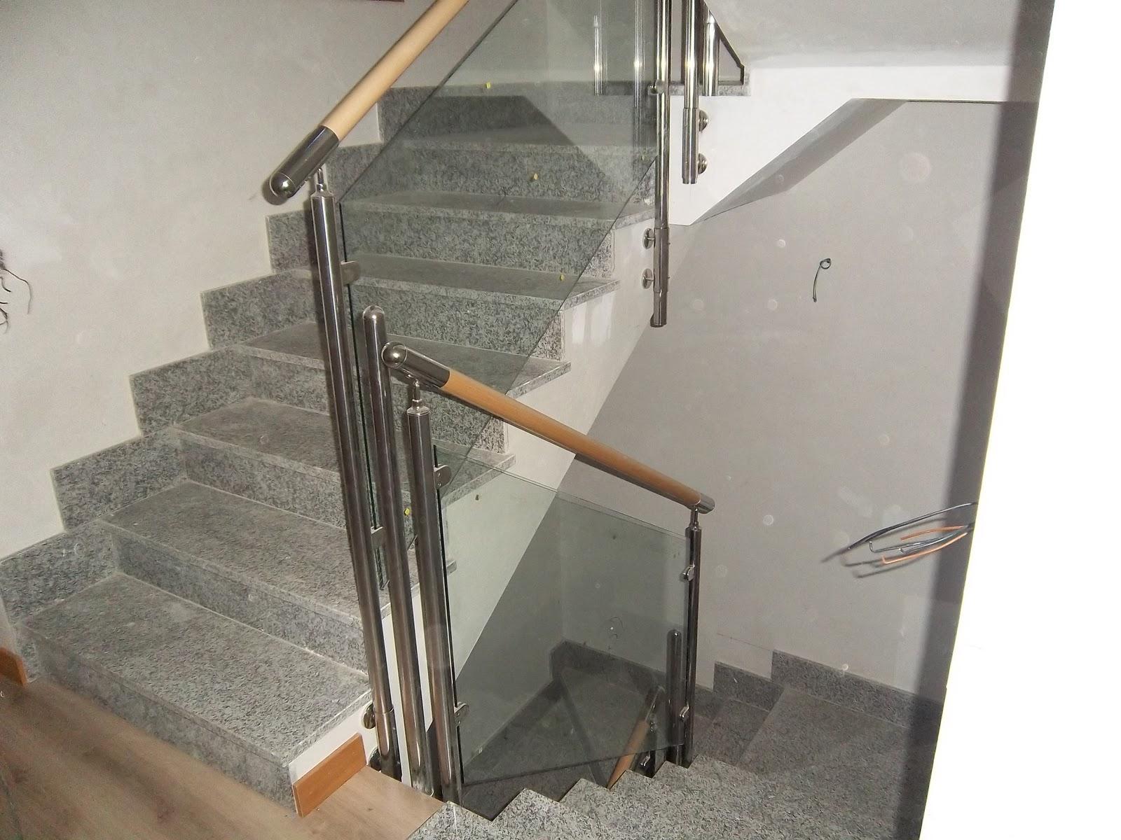 Norbel carpinteria met lica y acero inoxidable barandilla - Escaleras de cristal y madera ...
