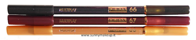 Pupa - Stay Gold!: Collezione natalizia 2015. Stay Gold! Multiplay. Matita Occhi. 66 Black Refined, 67 Charming Bordeaux, 68 Golden Light.
