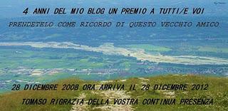 4° ANNIVERSARIO DEL BLOG PASSATO & PRESENTE