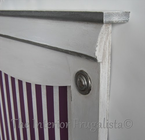 Twin Headboard Makeover with silver gilding wax