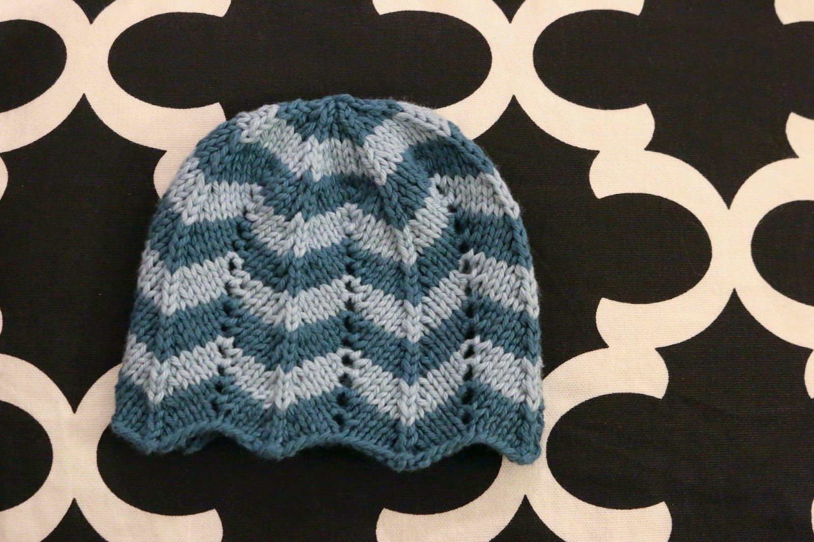 ChemKnits: A New Chevron Hat for a New Baby