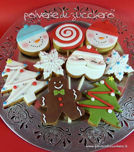 biscotti decorati pasta di zucchero polvere di zucchero