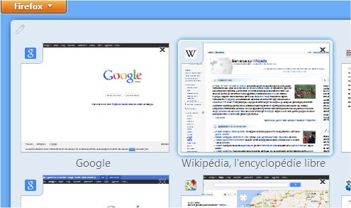 capture d'écran Firefox - onglets