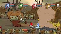 Castle Crashers Barbarian Boss Fight Screenshot