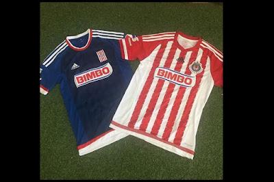 Nuevos uniformes Chivas 2015 - 2016