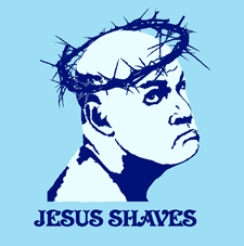 Funny Jesus Shaves Joke Caption Picture Meme