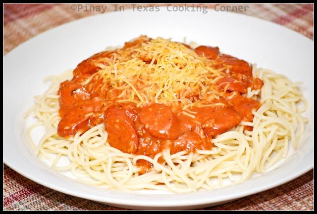 Pinay In Texas Cooking CornerFilipino Style Spaghetti