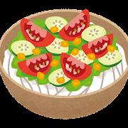サラダうどんのイラスト
