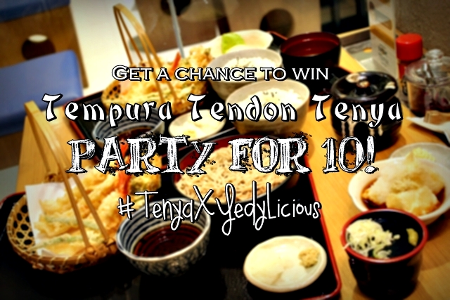 Tenya and YedyLicious Blog Giveaway Contest