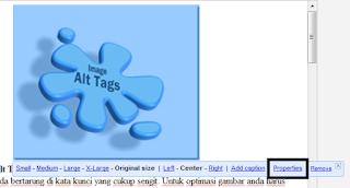 Cara memasang image alt tag di blog - Optimasi SEO on-page