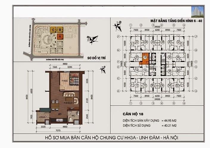 sơ đồ thiết kế mặt bằng hh3 linh đàm