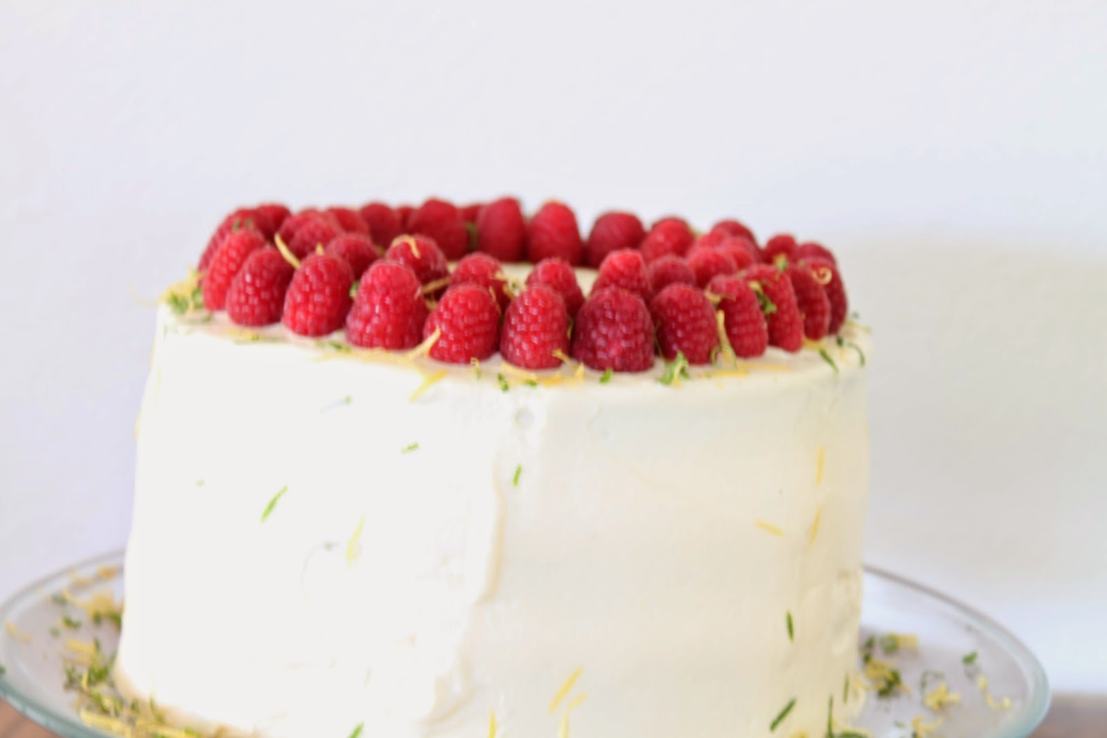 Lemon-Lime Layer Cake with Raspberries