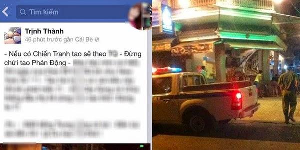 Đăng status phản động, thanh niên ở TP.HCM bị dân mạng 'hỏi thăm'