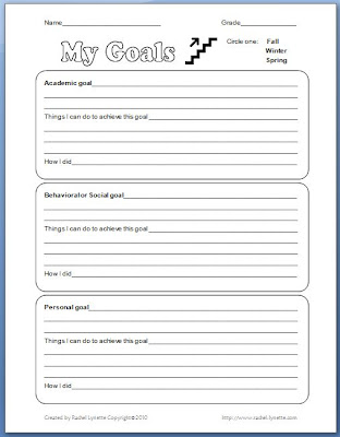 Printables Setting Goals For Students Worksheet classroom freebies free goal setting worksheet worksheet
