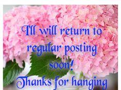 I'll be back soon!