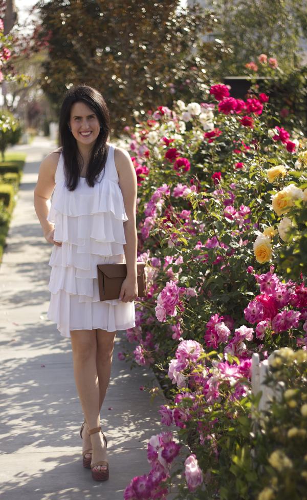 white spring dress