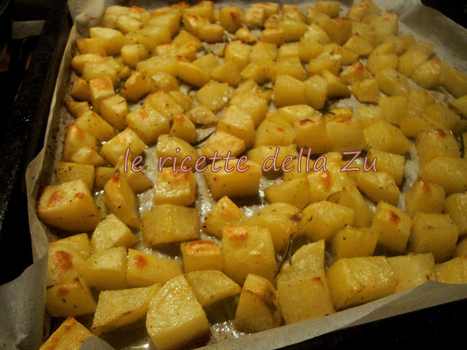 le ricette della zu: semplici patate al forno croccanti con ... - Come Si Cucinano Le Patate Al Forno