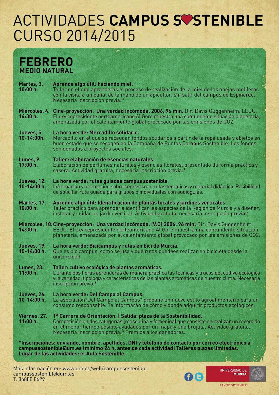 Actividades de Febrero