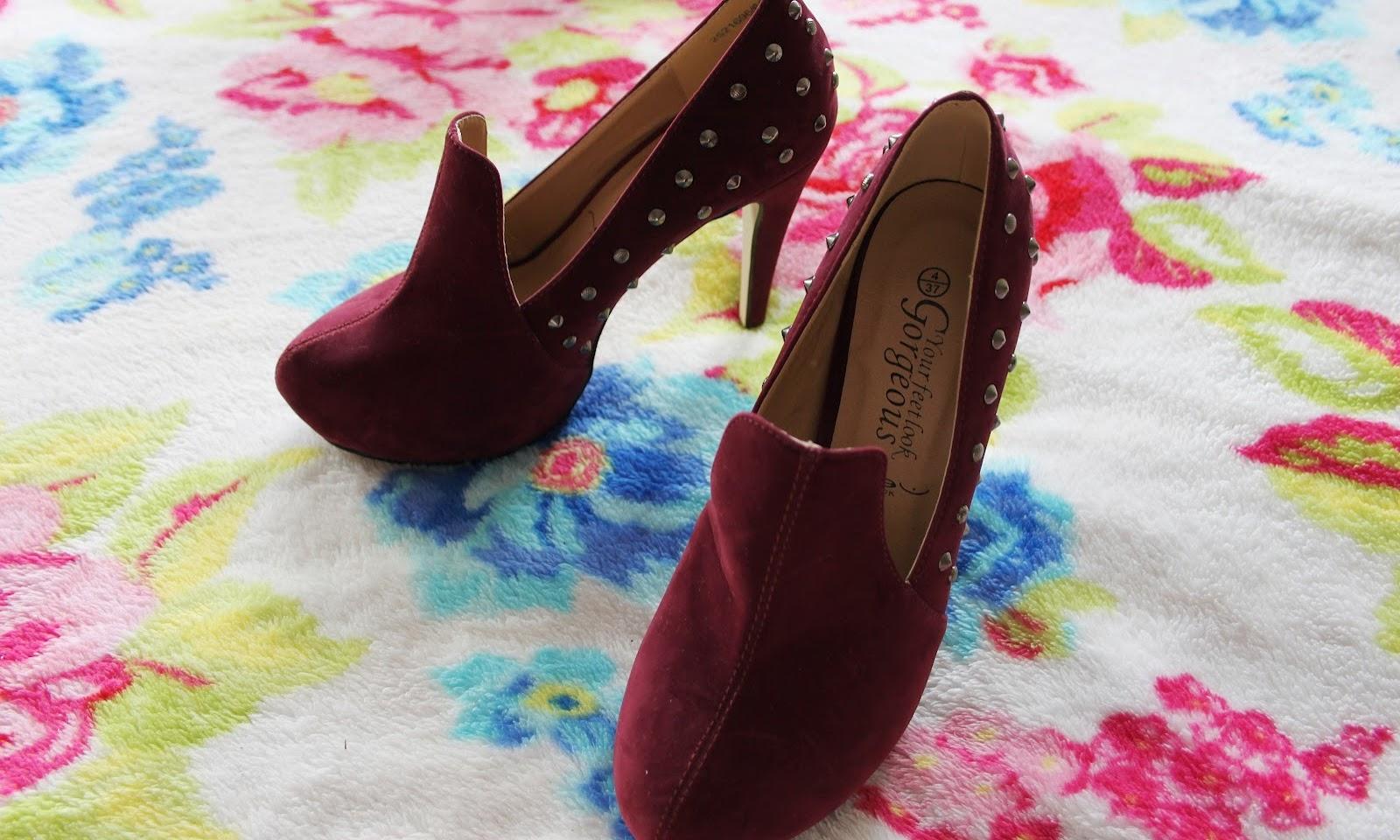 Studded Slipper Heels
