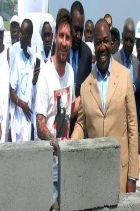 Man Steals the Foundation Stone Messi laid in Gabon (Photos)